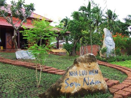 Một góc Nhà lưu niệm Nhà văn Sơn Nam ở TP. Mỹ Tho.