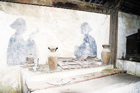 Bức song ảnh của Phạm Đăng Thuật (trái) và công chúa Quy Đức . Ảnh: Tư liệu