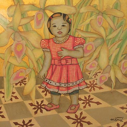 Một tác phẩm tại triển lãm của Nguyễn Thị Hiền.